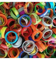 Dekoratyvinis silikoninis žiedas (vape ring)