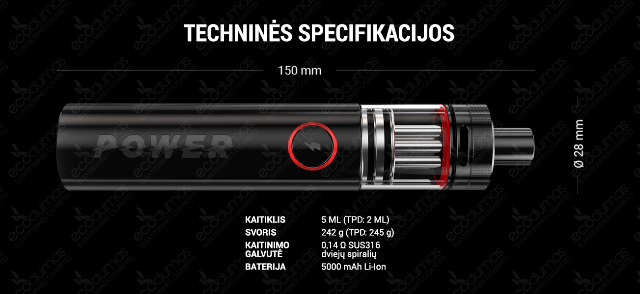 ARAMAX POWER techninės specifikacijos