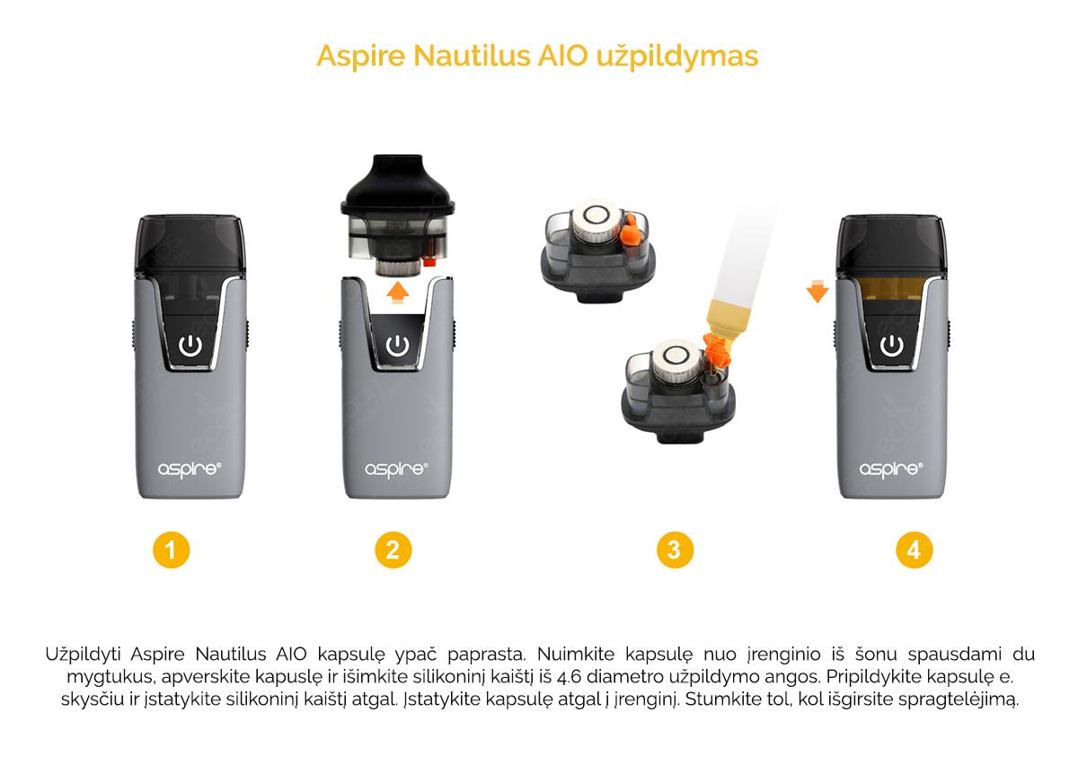Aspire Nautilus - Kapsulės užpildymas