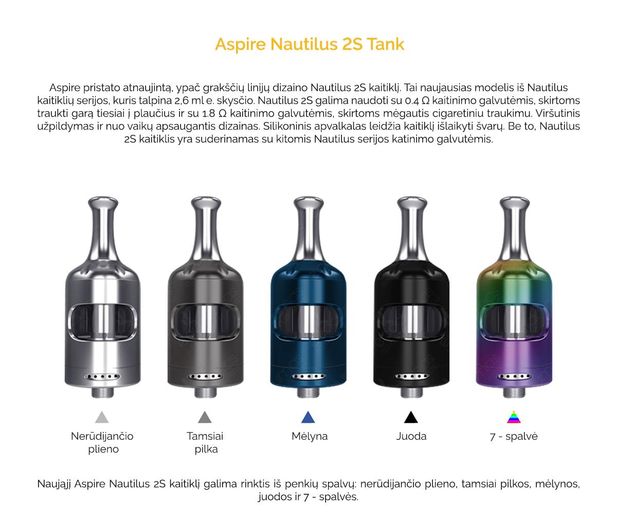 Aspire Nautilus 2S - Pristatymas