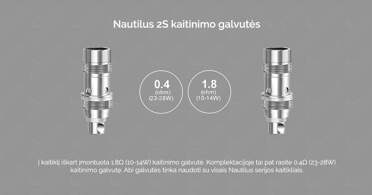 Aspire Nautilus 2S - Kaitinimo galvutės