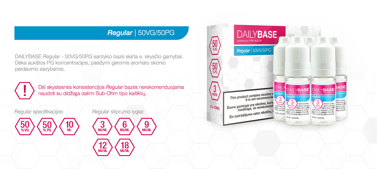 DAILYBASE Regular 50VG/50PG