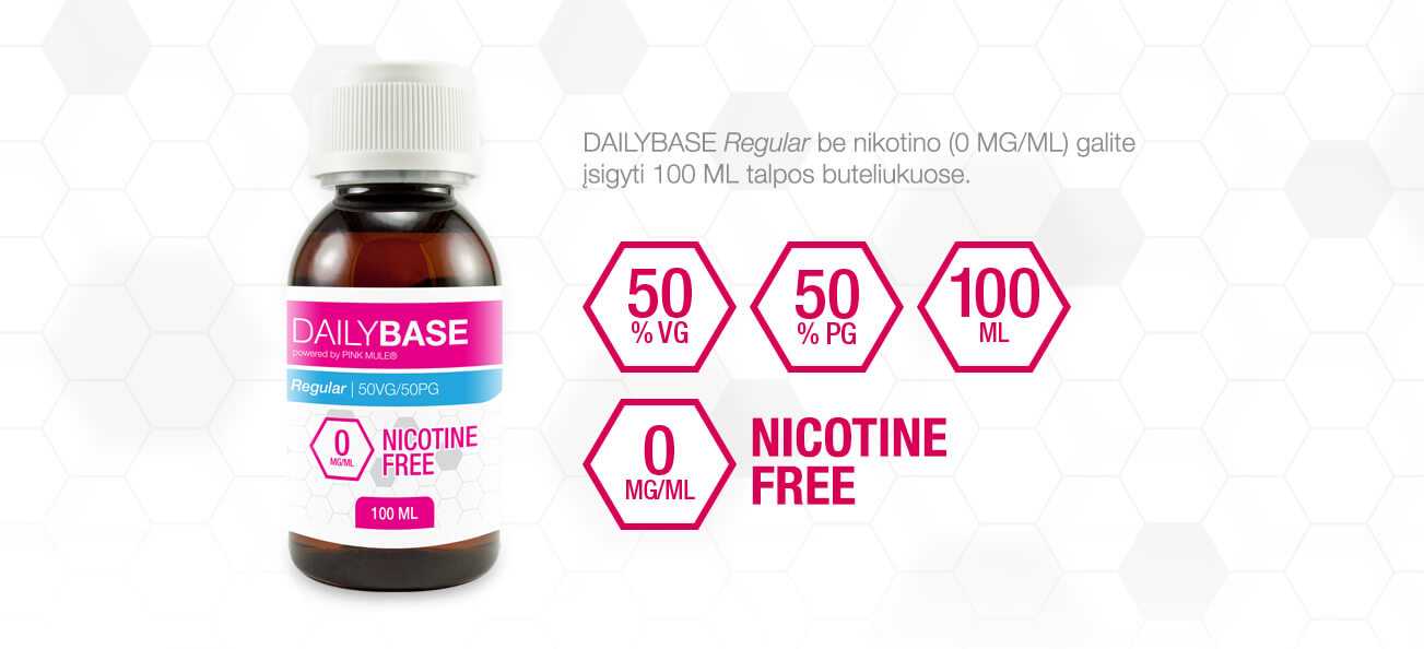 DAILYBASE Regular 100 ML Nicotine Free