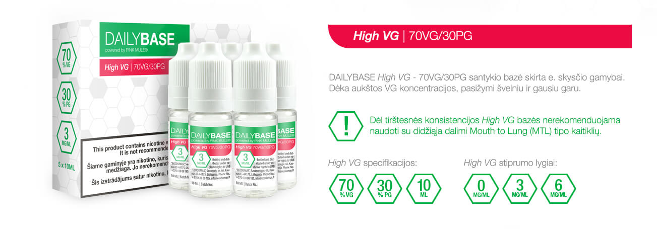 DAILYBASE High VG 70VG/30PG