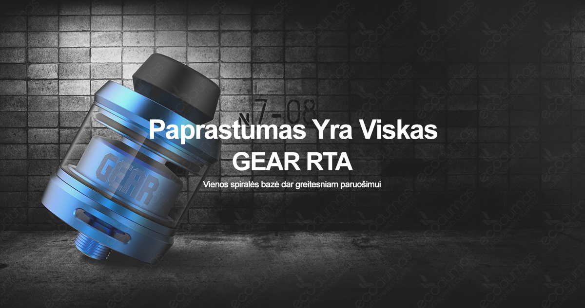 GearRTA - Vienos spiralės bazė