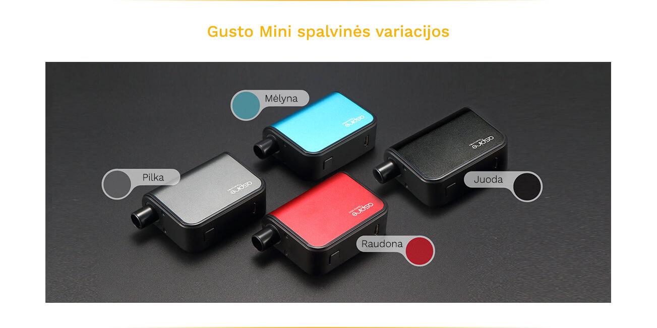 Aspire Gusto Mini spalvinės variacijos
