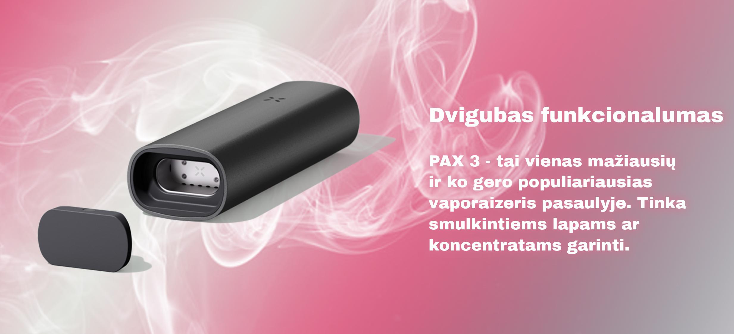Naujasis PAX3 vaporaizeris
