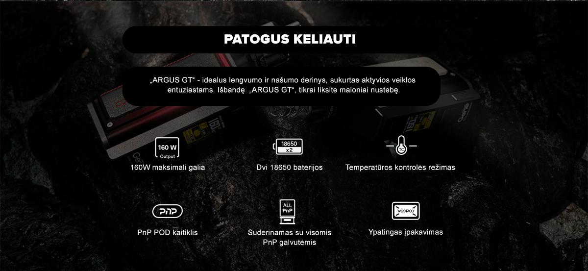 Naujasis VOOPOO Argus GT rinkinys